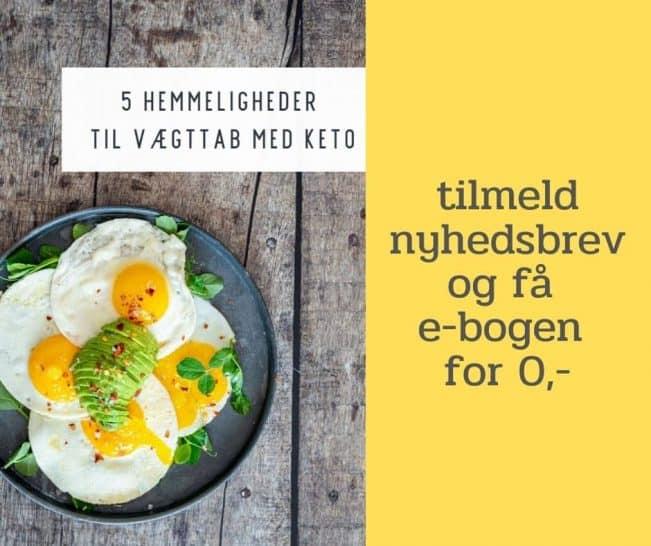 E-bog: 5 hemmeligheder til vægttab med Keto