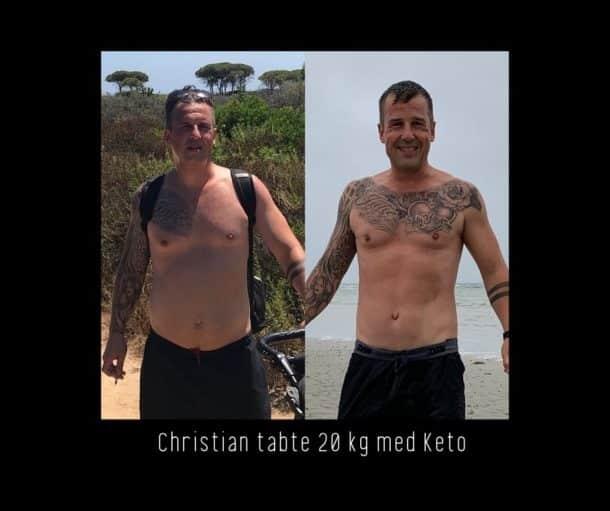 Keto for mænd - Christian tabte 20 kg med Keto