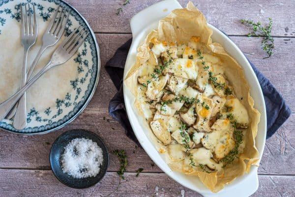 Svampe med mozzarella og timian - opskrift på dejligt tilbehør på Keto