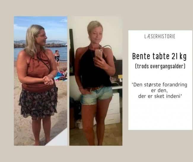 Vægttab i overgangsalderen: Bente tabte 21 kg med Keto