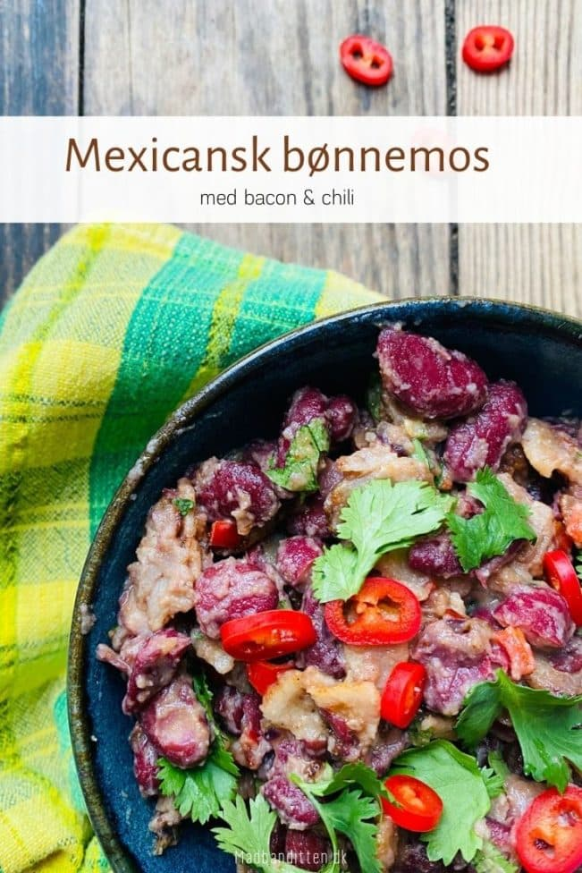 Bønnemos med bacon og chili - opskrift på lækker mexicansk bønnemos