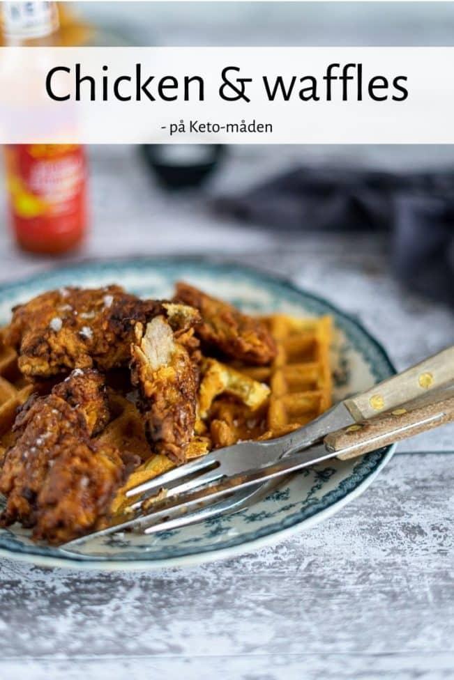 Chicken & Waffles - Keto opskrift på kylling og vafler, den amerikanske klassiker