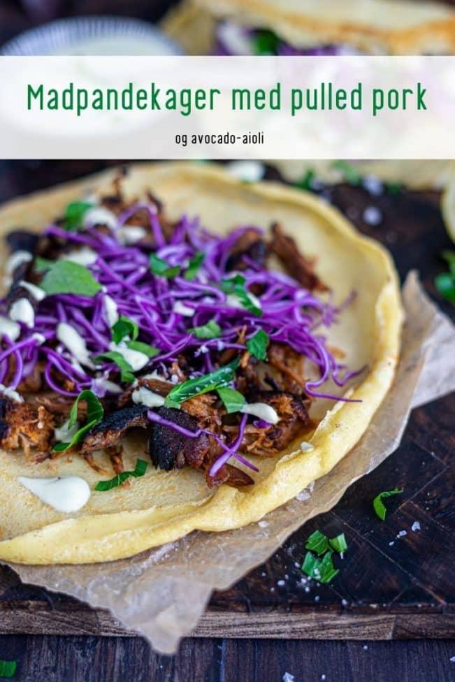 Madpandekager med pulled pork og avocado-aioli - Mælkefri Keto opskrift