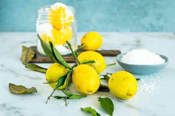 Saltede citroner opskrift