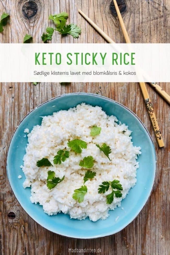 Keto sticky rice - opskrift på sticky rice med blomkålsris og kokos