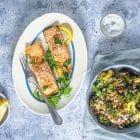 Laks med grøntsagscouscous - lækker og sund Keto opskrift med laks