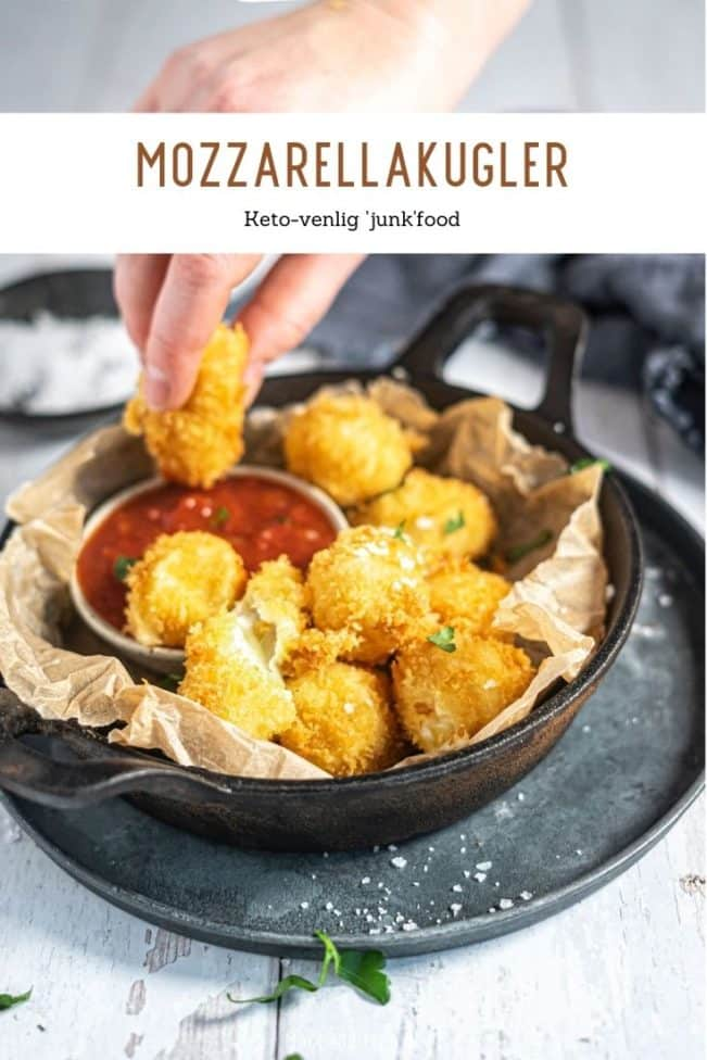 Mozzarellakugler - opskrift på Keto junkfood