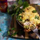 Tex Mex fad med kylling, bacon og avokado