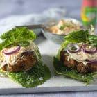 Kyllingeburger - Chicken burger med coleslaw Keto opskrift