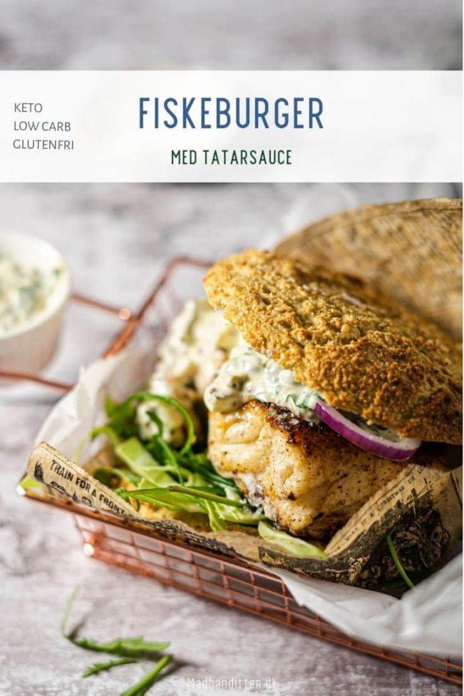 Fiskeburger med tatarsauce - Low Carb og Keto opskrift