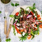 Steaksalat med chimichurri
