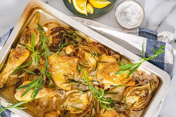 Kylling med estragon og citron -Lækker opskrift med kylling