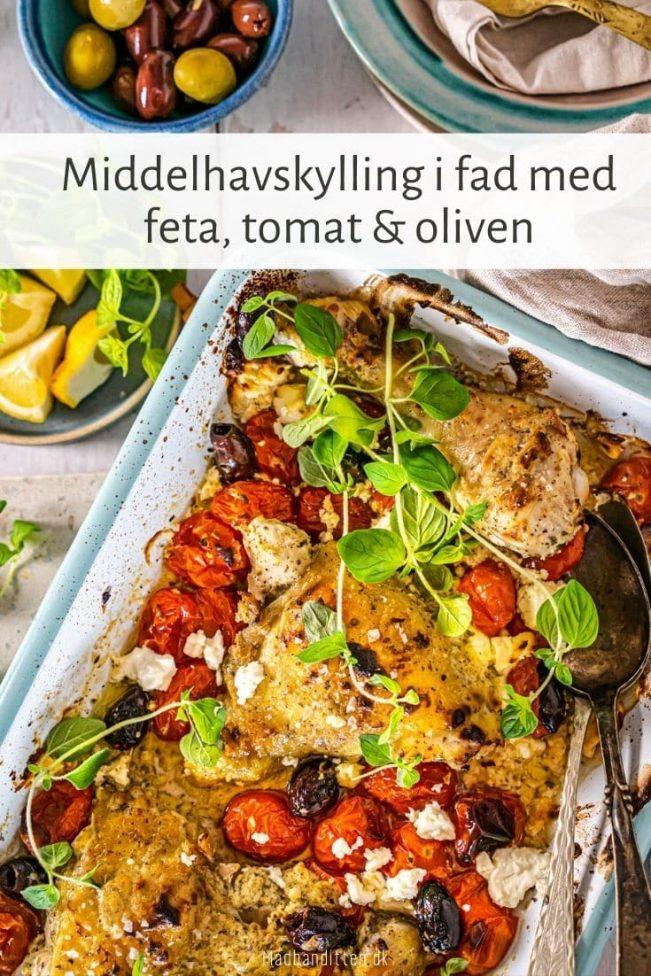 Middelhavskylling med feta, tomat og oliven