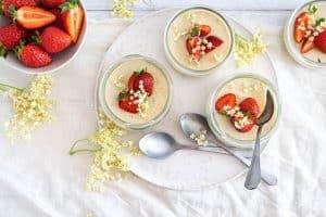 Koldskåls Panna Cotta - lækker sukkerfri sommerdessert