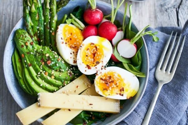 Breakfast bowl med æg - lækker low carb morgenmad