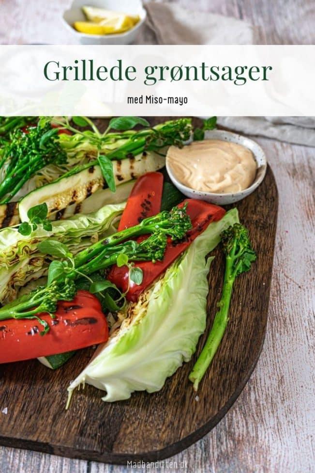 Grillede grøntsager med miso-dip - lækker opskrift på sommermad