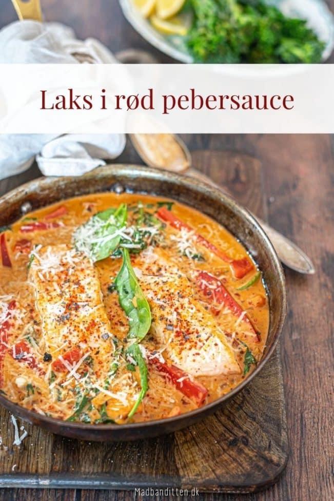 Laks i rød pebersauce - opskrift på lækker og sund aftensmad