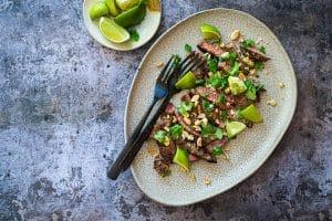Marineret Thai Steak med kokos og lime