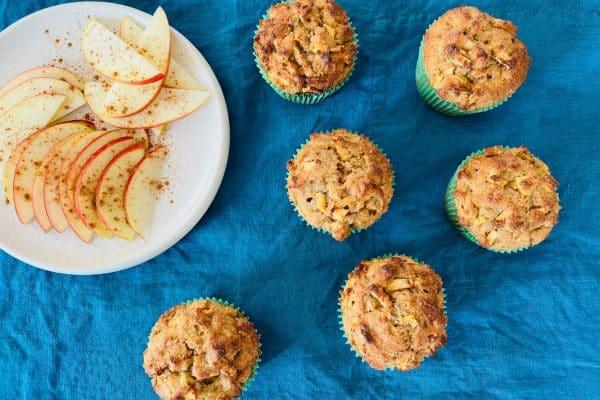 Æblemuffins - opskrift uden sukker, gluten og mel